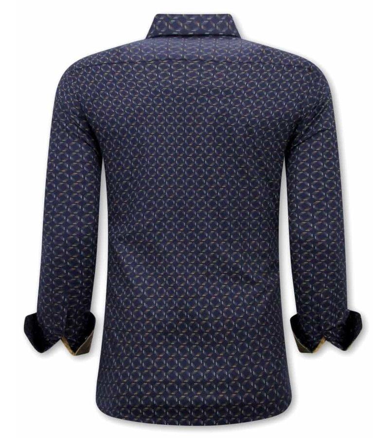Tony Backer Slim Fit Skjortor för Herr - 3076 - Blå