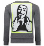 Tony Backer Anonymous Herr Tröja - Grå