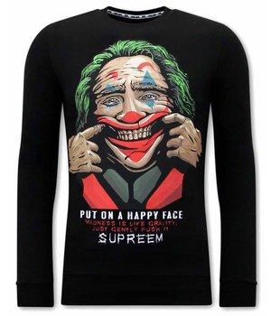 Tony Backer Joker Tryck på Tröja - Svart