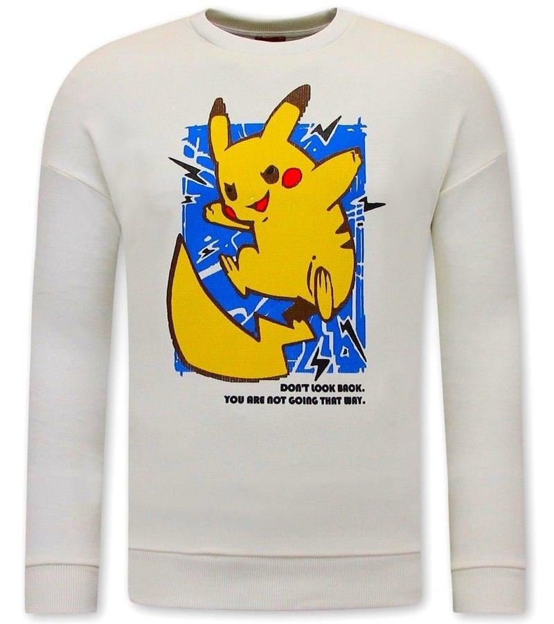 Tony Backer PikachuTryck på Tröja - Vit