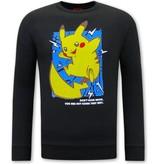 Tony Backer PikachuTryck på Tröja - Svart