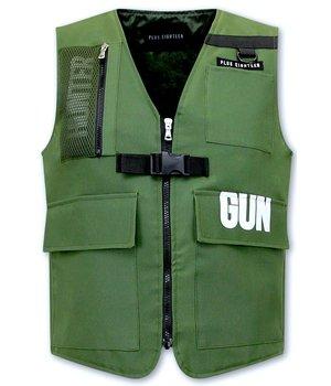 Tony Backer FBI väst för män - 21007 - Grön