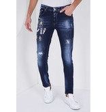True Rise Herr Jeans  Slim Fit - 5201E - Blå