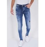 True Rise Stretch Jeans Slim Fit - 5301D - Blå