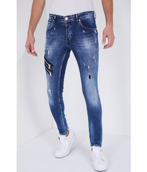 True Rise Jeans Stretch Man - 5301B - Blå