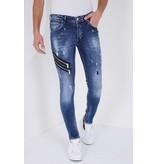 True Rise Jeans Stretch Man - 5301B - Blå