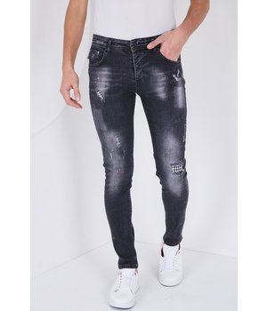 True Rise Jeans stretch man -  5501D - Svart