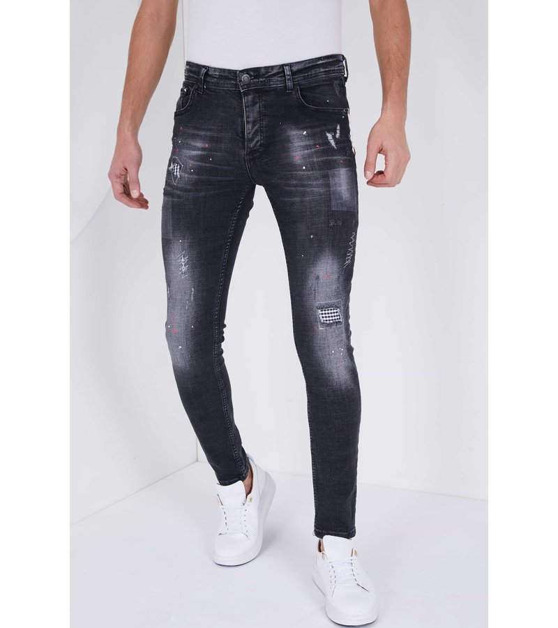 True Rise Jeans stretch man -  5501D - Svart