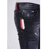 True Rise Slitna Jeans Herr Slim Fit - 5501C - Svart