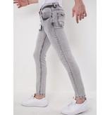 True Rise Stretch Jeans Herr - 2610 - Grå