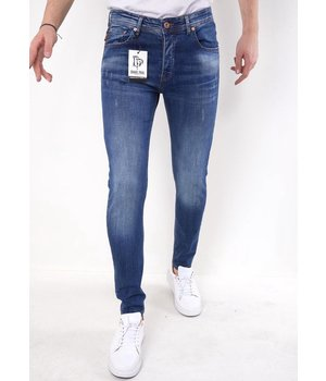 True Rise Slim Fit Stretch Jeans Herr - 5304 - Blå