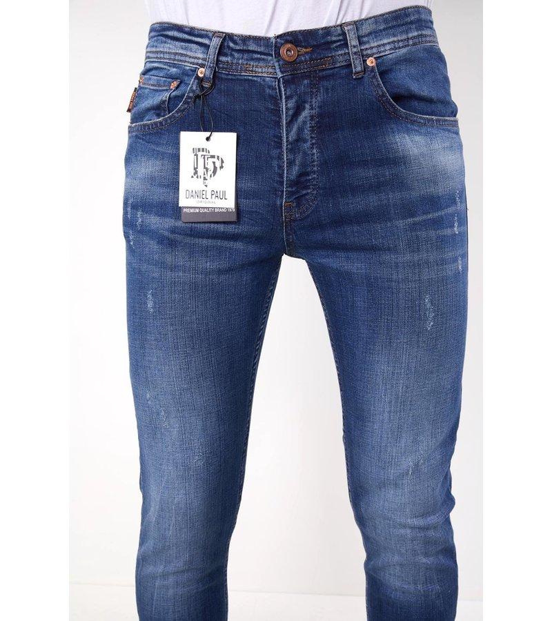 True Rise Slim Fit Stretch Jeans Herr - 5304 - Blå