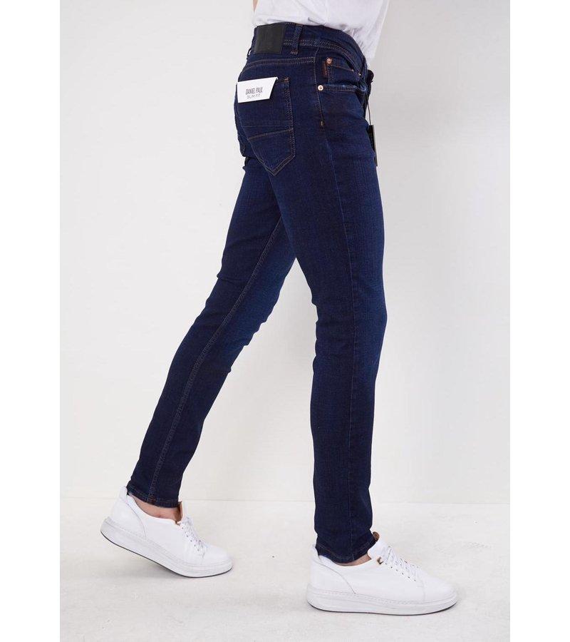 True Rise Jeans För Män - 5306 - Blå