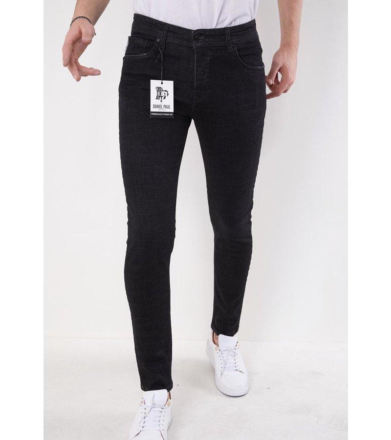 True Rise Jeans Herr Billigt Slim Fit - 5509 - Svart