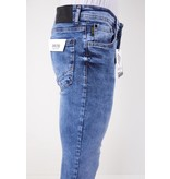 True Rise Tight Jeans Men - 5305 - Blå