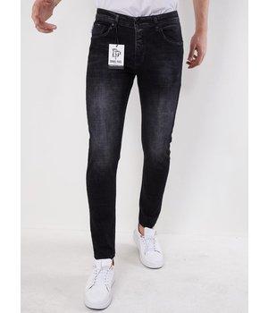 True Rise Billiga Jeans Män  - 5508 - Svart