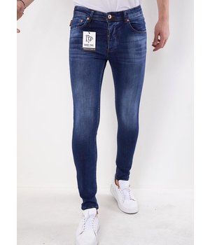 True Rise Slim Fit Jeans Herr -5303 - Blå