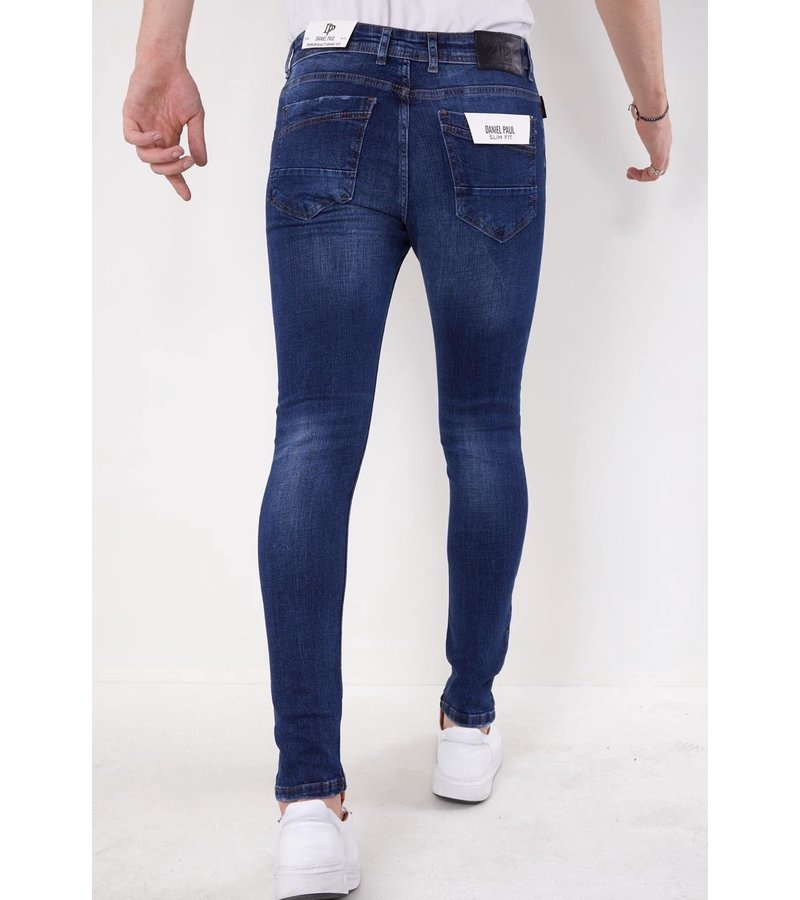 True Rise Slim Fit Jeans Herr -5303 - Blå