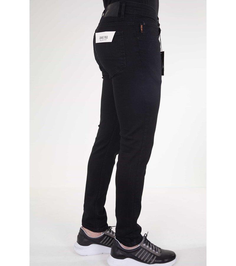 True Rise  Slim Fit Svarta Jeans Herr- 5412 - Svart