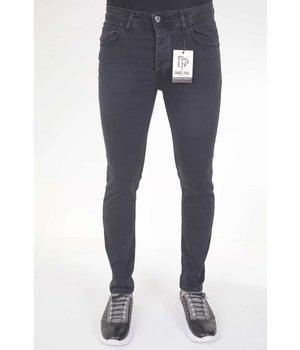 True Rise Svarta Jeans Herr Slim Fit - 5413 - Svart