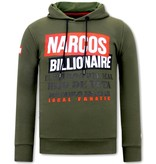 Local Fanatic  Narcos Billionaire Herr Huvtröja  - Grön