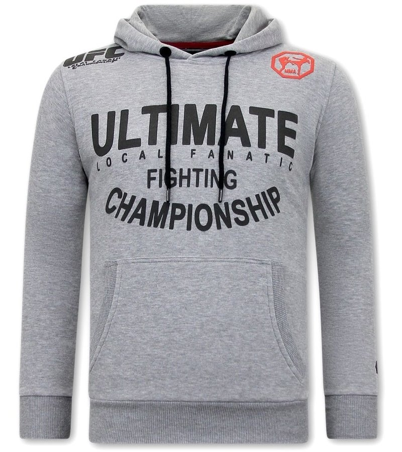 Local Fanatic Huvtröja Herr UFC Ultimate Fighting - Grå