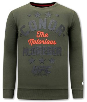 Local Fanatic Sweatshirt Herr Conor McGregor - Grön