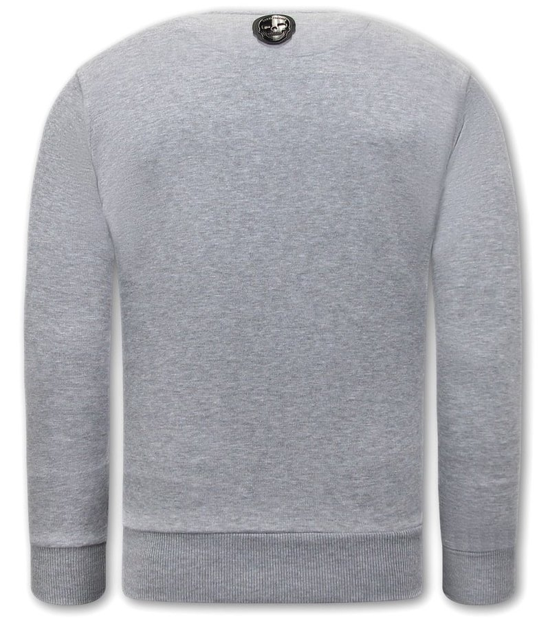 Local Fanatic El Narco  Sweatshirt Herr - Grå
