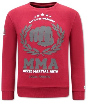 Local Fanatic MMA Fighter Sweatshirt Herr - Bordeaux