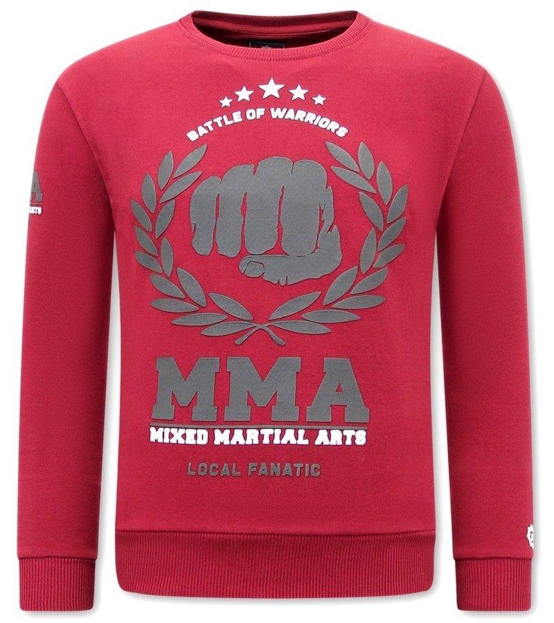 Local Fanatic MMA Fighter Sweatshirt Herr - Bordeaux