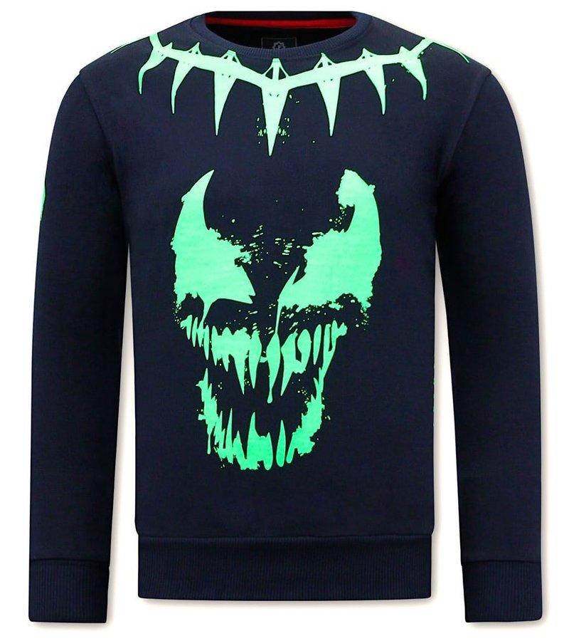 Local Fanatic  Tröjor Herr  Venom Face Neon - Blå