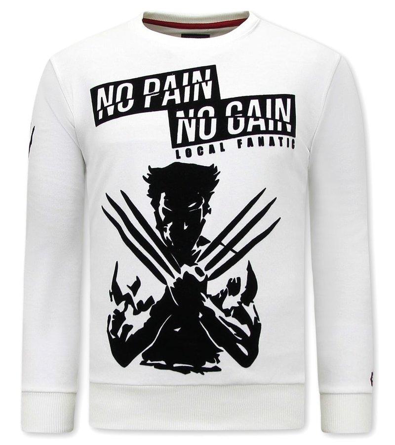 Local Fanatic  Tröjor Herr  Wolverine X MAN - Vit