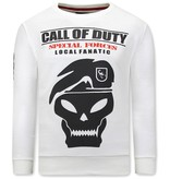 Local Fanatic  Call Of Duty Tröjor Herr - Vit