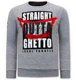 Local Fanatic Tröjor Herr Straight Outta Ghetto - Grå