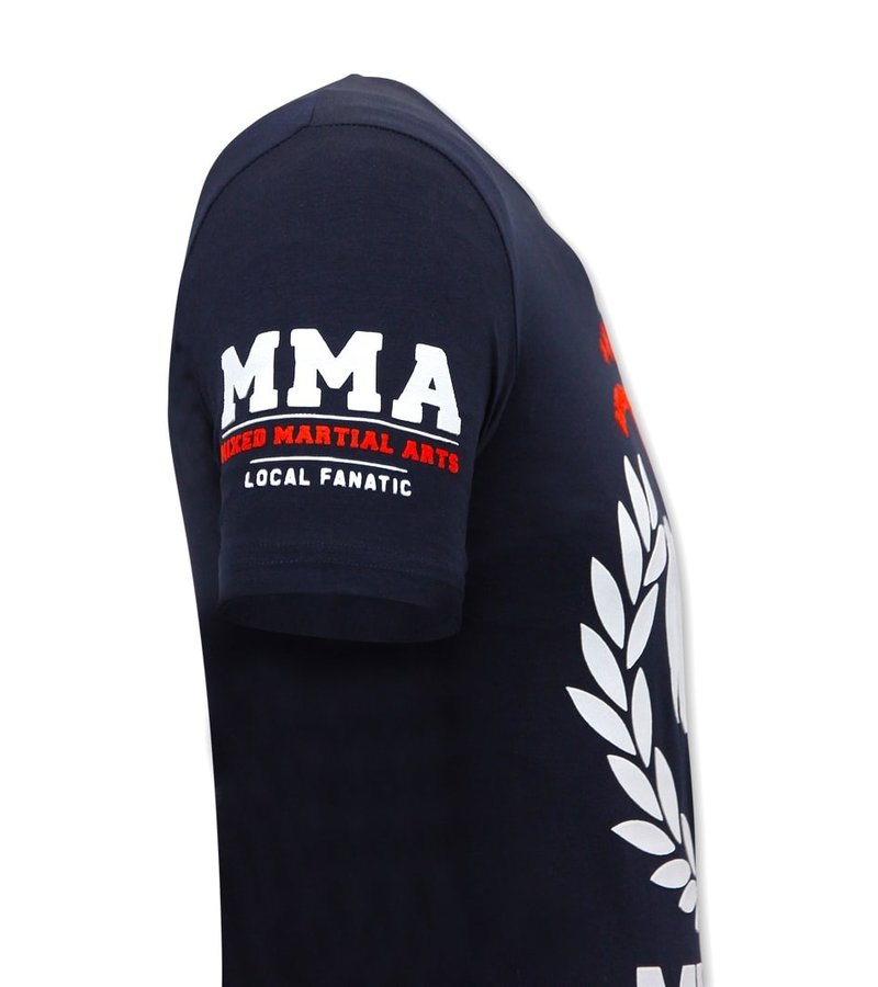 Local Fanatic MMA Fighter Herr T-Shirt  - Blå