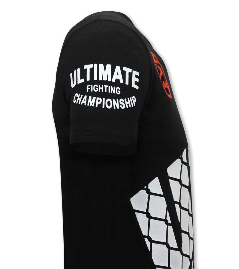 Local Fanatic T Shirt Med Tryck  UFC - Svart
