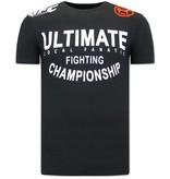Local Fanatic T Shirt Med Tryck UFC Ultimate - Svart