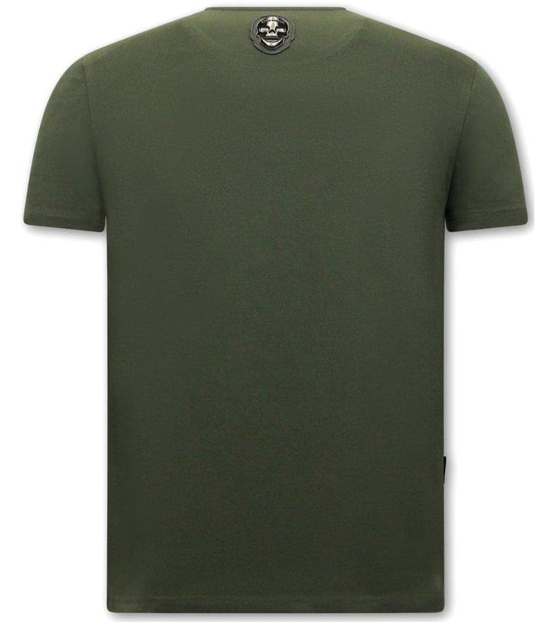 Local Fanatic  T Shirt Med Tryck Venom Face Neon - Grön