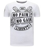 Local Fanatic  T Shirt Med Tryck Sons of Anarchy MC - Vit