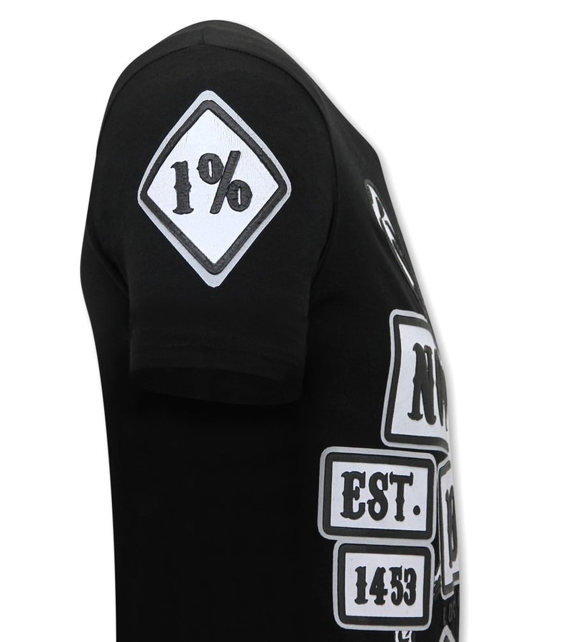 Local Fanatic  T Shirt Med Tryck Sons of Anarchy MC - Svart