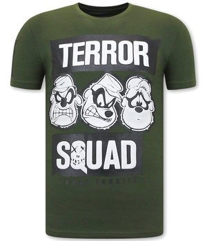 Local Fanatic T Shirt Med Tryck  Beagle Boys Squad  - Grön