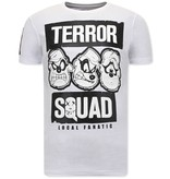 Local Fanatic T Shirt Med Tryck  Beagle Boys Squad  - Vit