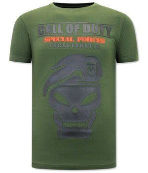 Local Fanatic T Shirt Med Tryck Call of Duty - Grön