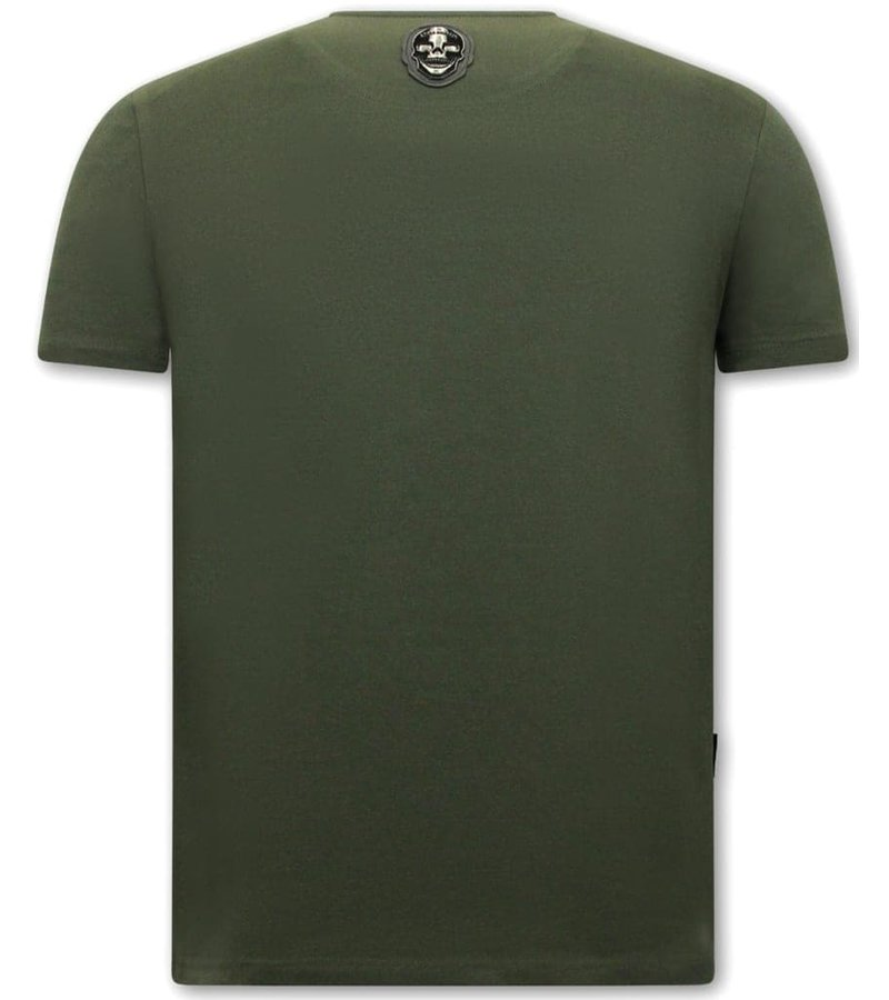 Local Fanatic Herr T Shirt Straight Outta Ghetto - Grön