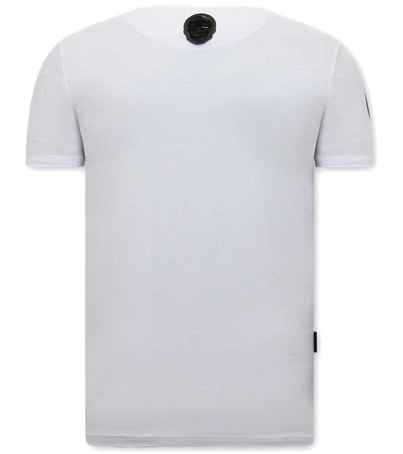 Local Fanatic Herr T Shirt Straight Outta Ghetto - Vit