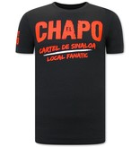 Local Fanatic EL Chapo Cartel de Sinaloa  Herr T Shirt - Svart