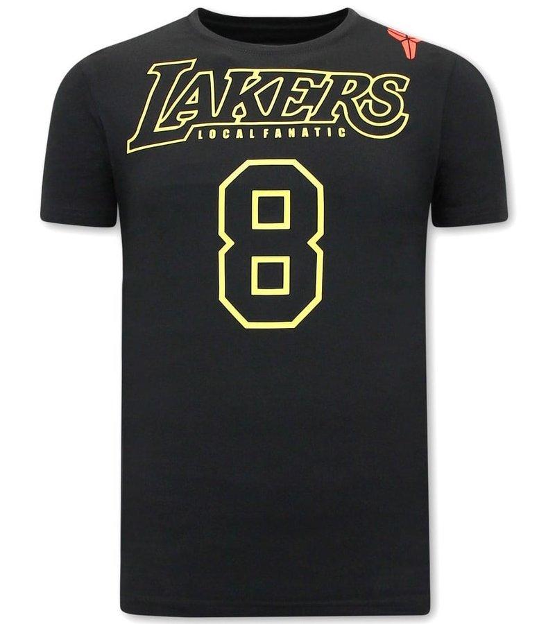 Local Fanatic Lakers 8 Herr T Shirt  -  Svart