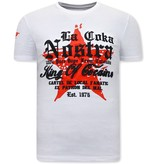 Local Fanatic Herr T Shirt King of Cocaines  - Vit