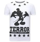 Local Fanatic Herr T Shirt Terror Mouse - Vit