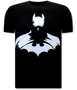 Local Fanatic T shirt Herr Batman Print - Svart